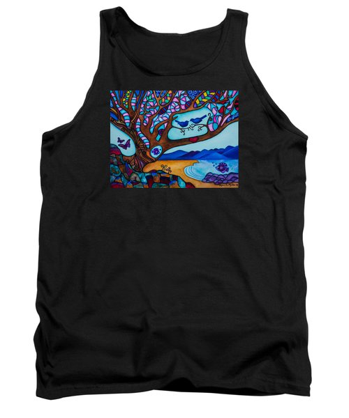 Love Is All Around Us Tank Top by Lori Miller