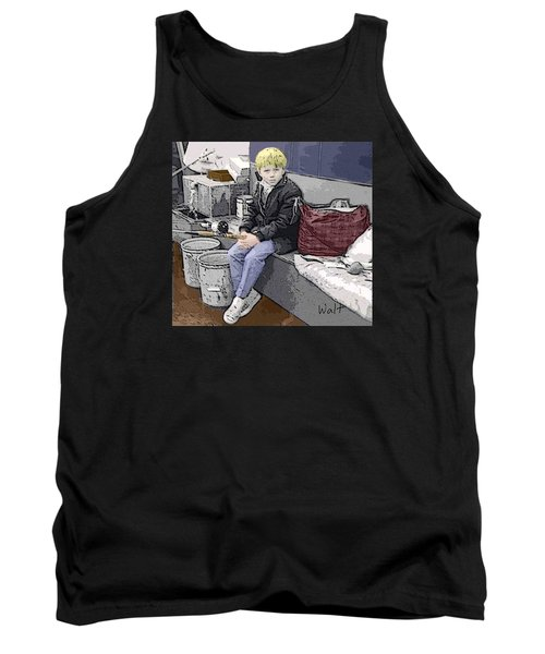 Young Fisherman Tank Top by Walter Chamberlain