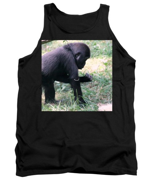 Young Gorilla Tank Top by Laurel Talabere