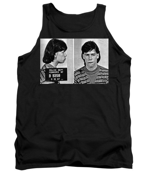 Young Steven Tyler Mug Shot 1963 Pencil Photograph Black And White Tank Top