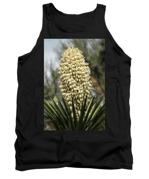 Tank Top featuring the photograph Yucca Flowers In Bloom  by Saija Lehtonen