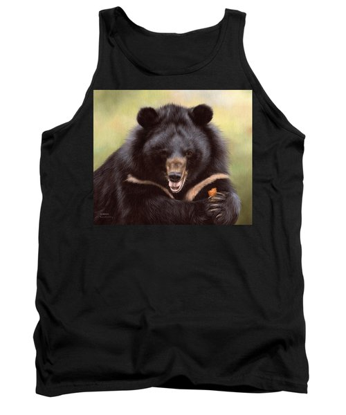 Zebedee Moon Bear - In Support Of Animals Asia Tank Top by Rachel Stribbling