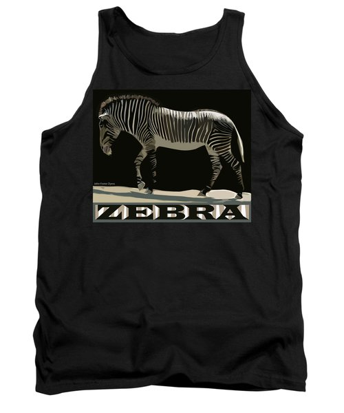 Zebra Design By John Foster Dyess Tank Top