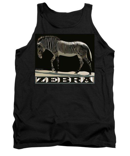 Zebra Design By John Foster Dyess Tank Top