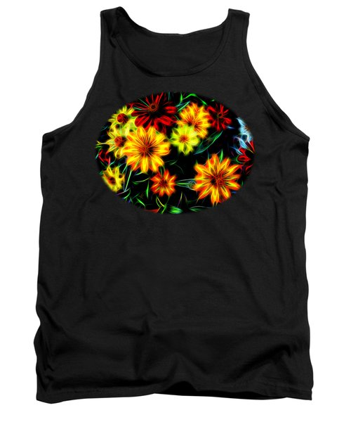 Zinnias With Zest Tank Top