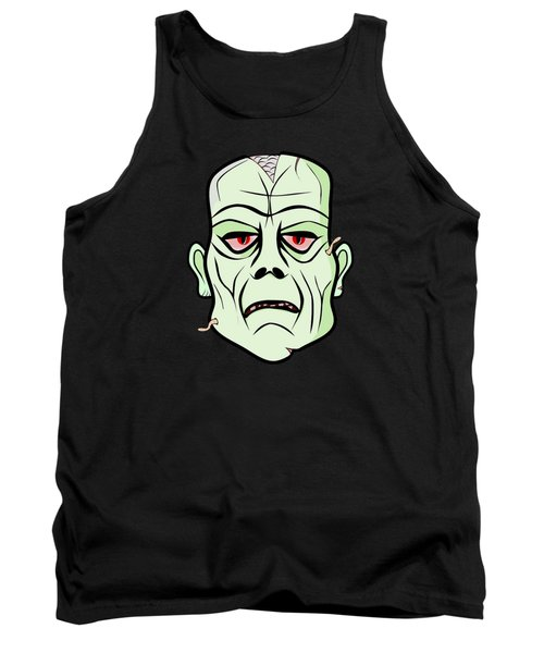 Zombie Head Tank Top by Martin Capek