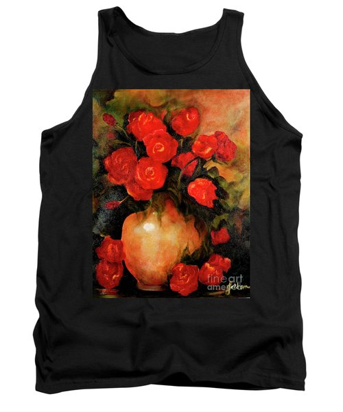 Antique Red Roses Tank Top