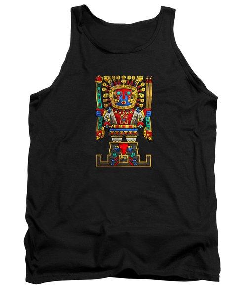 Incan Gods - The Great Creator Viracocha On Black Canvas Tank Top