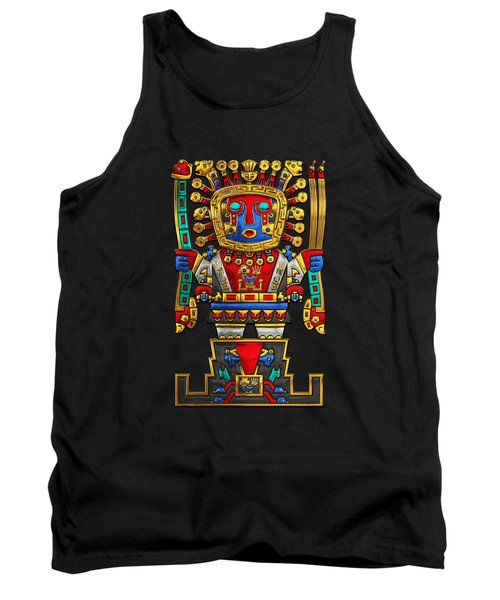 Incan Gods - The Great Creator Viracocha On Black Canvas Tank Top