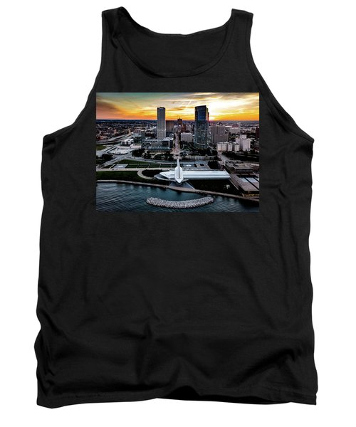 Tank Top featuring the photograph Milwaukee Sunset by Randy Scherkenbach