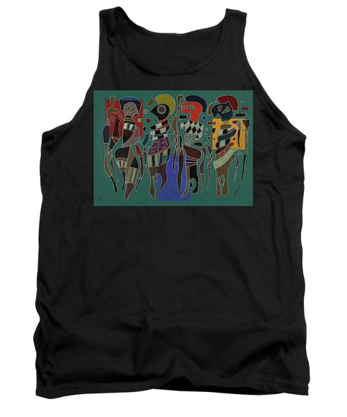 4 Figures On 3 Squares, 1943 Tank Top