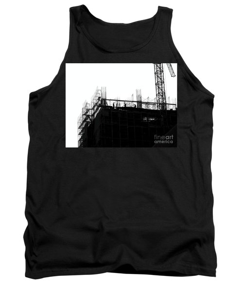 Large Scale Construction In Outline Tank Top