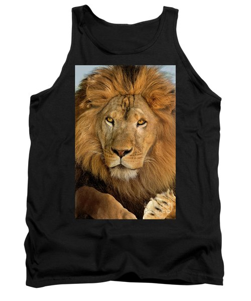 Tank Top featuring the photograph 656250006 African Lion Panthera Leo Wildlife Rescue by Dave Welling