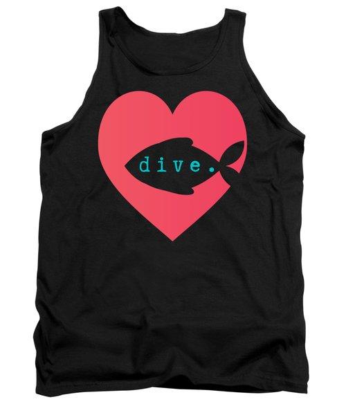 A Diver's Heart Tank Top