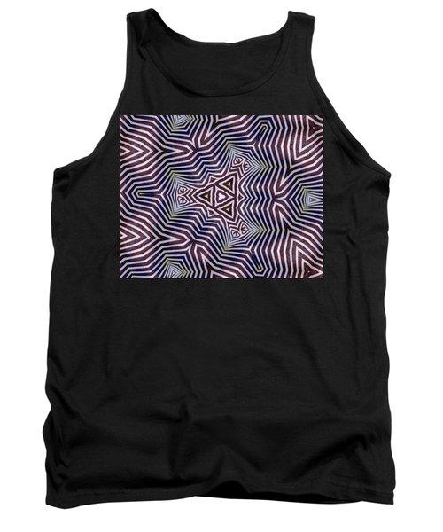 Abstract Zebra Design Tank Top