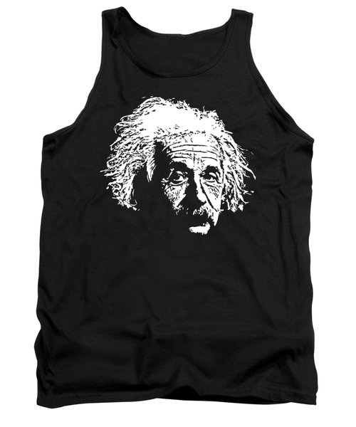 Albert Einstein Minimalistic Pop Art Tank Top