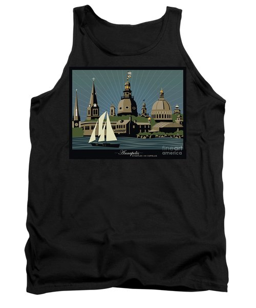 Annapolis Steeples And Cupolas Serenity With Border Tank Top