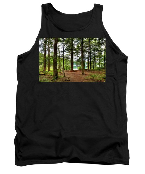 Tank Top featuring the photograph Approaching Sis Lake by David Patterson