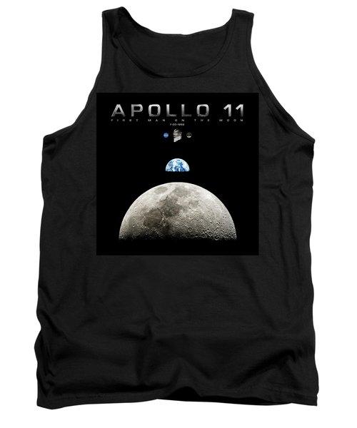 Apollo 11 First Man On The Moon Tank Top