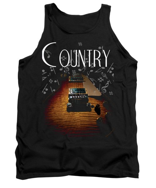 Color Country Music Guitar Notes Tank Top