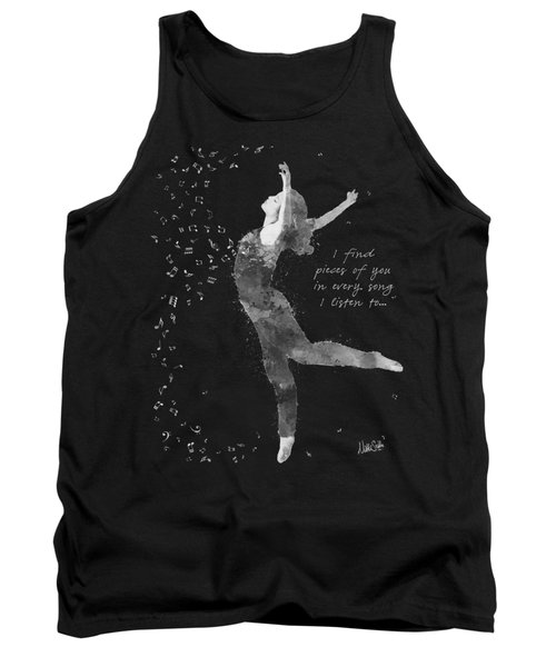 Beloved Deanna Radiating Love And Light In Black And White Tank Top