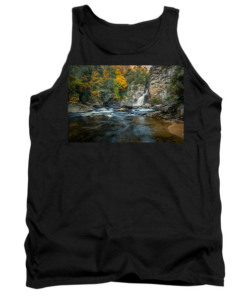 Autumn At Linville Falls - Linville Gorge Blue Ridge Parkway Tank Top