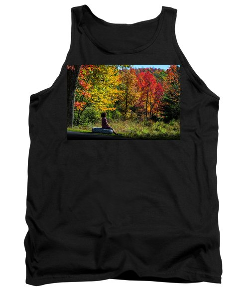 Autumn Leaves In The Catskill Mountains Tank Top