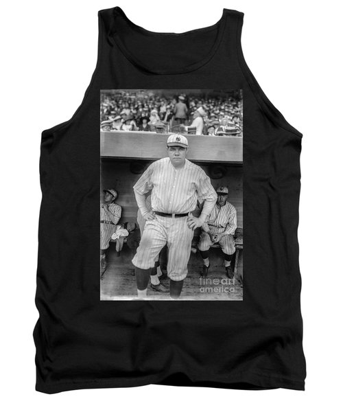 Babe Ruth With The Yankees Tank Top