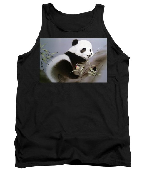 Baby Panda And Butterfly Tank Top