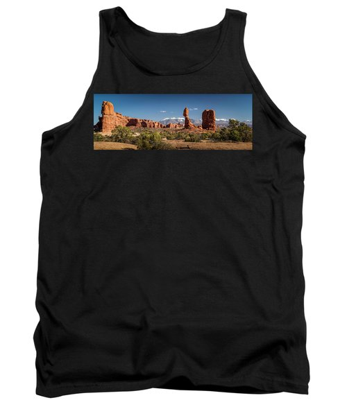 Tank Top featuring the photograph Balanced Rock And The La Sal Mountain Range by David Morefield