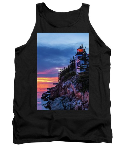 Bass Harbor Head Lighthouse At Twilight Tank Top