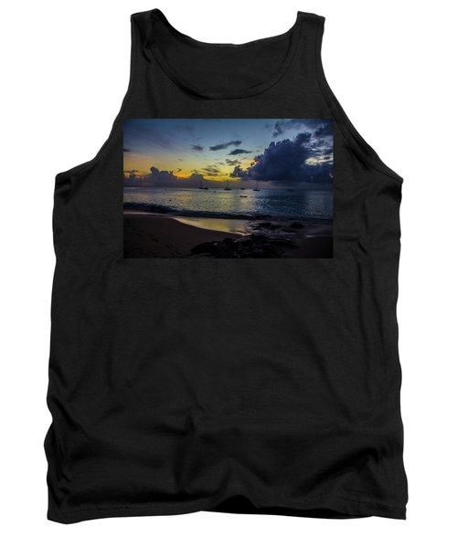 Beach At Sunset 3 Tank Top