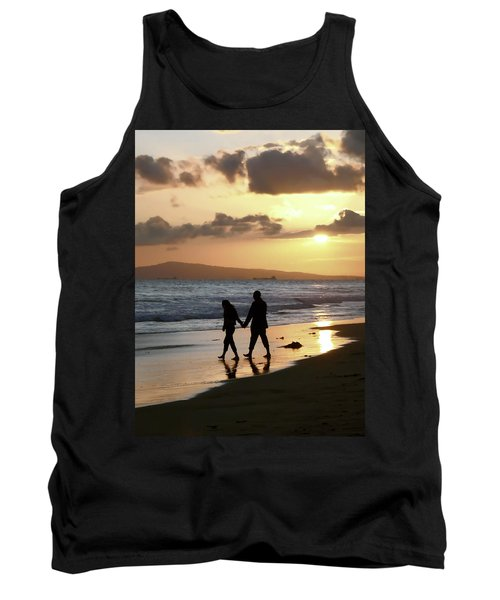 Beach Walk At Sunset Tank Top