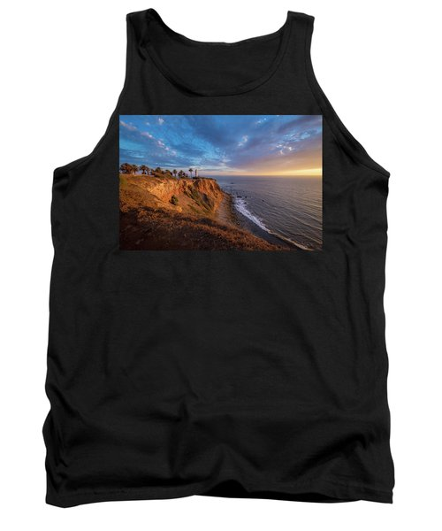Beautiful Point Vicente Lighthouse At Sunset Tank Top