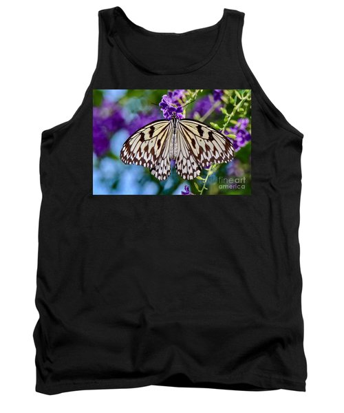 Black And White Paper Kite Butterfly Tank Top