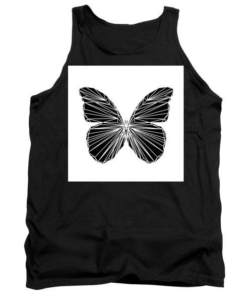 Black Butterfly Tank Top