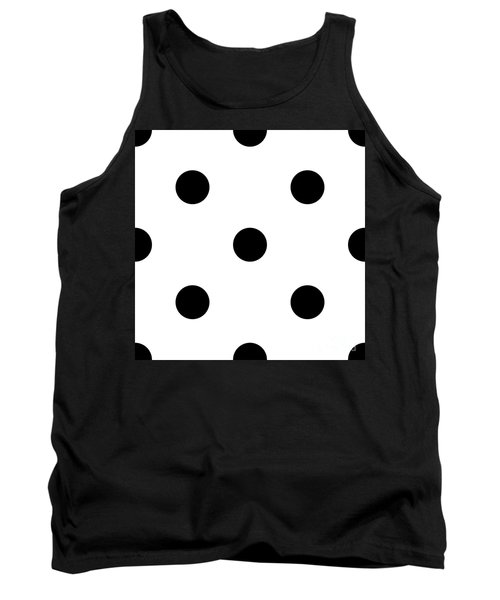Black Dots On A White Background- Ddh610 Tank Top