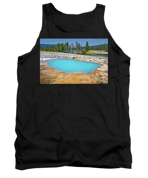 Black Opal Spring In Biscuit Basin Yellowstone Tank Top