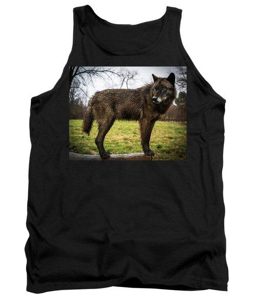 Black Wolf Tank Top