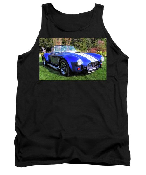 Blue 427 Shelby Cobra In The Garden Tank Top