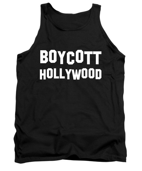 Boycott Hollywood Tank Top