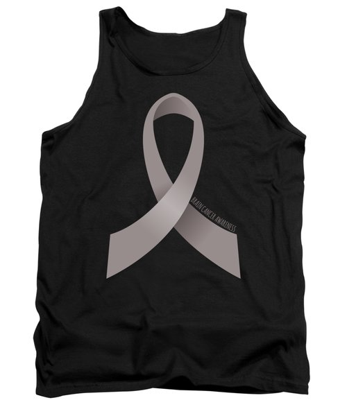 Brain Cancer Awareness Ribbon Tank Top