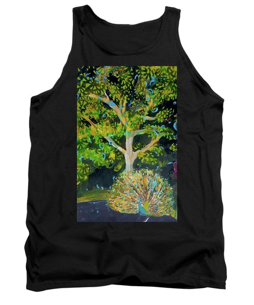 Branching Out Peacock Tank Top