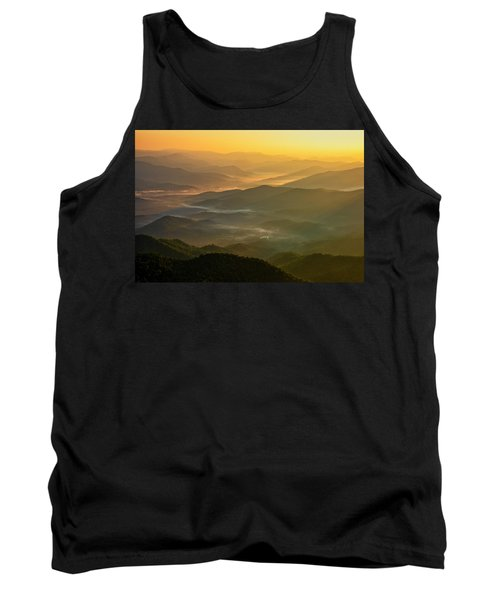 Tank Top featuring the photograph Brasstown Bald Mists by Andy Crawford