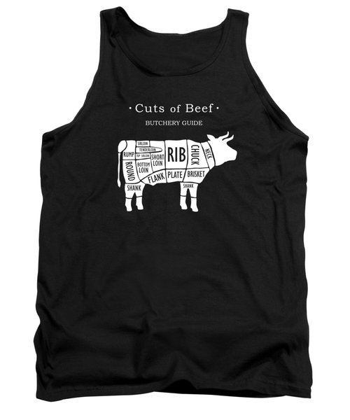 Butchery Guide Cuts Of Beef Tank Top