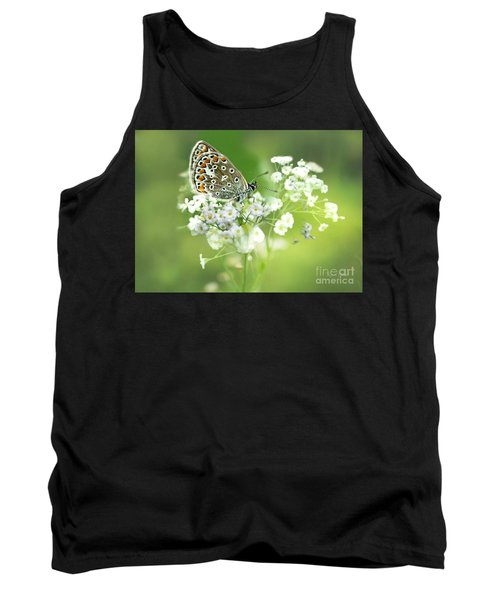 Butterfly On Babybreath Tank Top