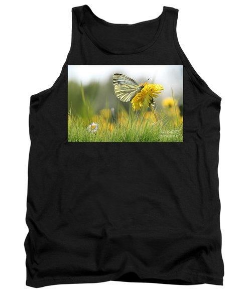 Butterfly On Dandelion Tank Top