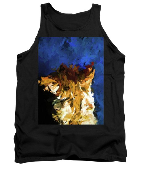 Cat And The Cobalt Blue Wall Tank Top