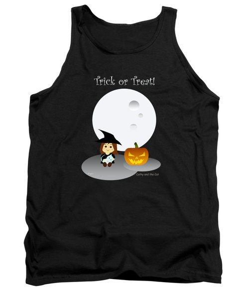 Cathy And The Cat Enjoy Halloween #3 Tank Top