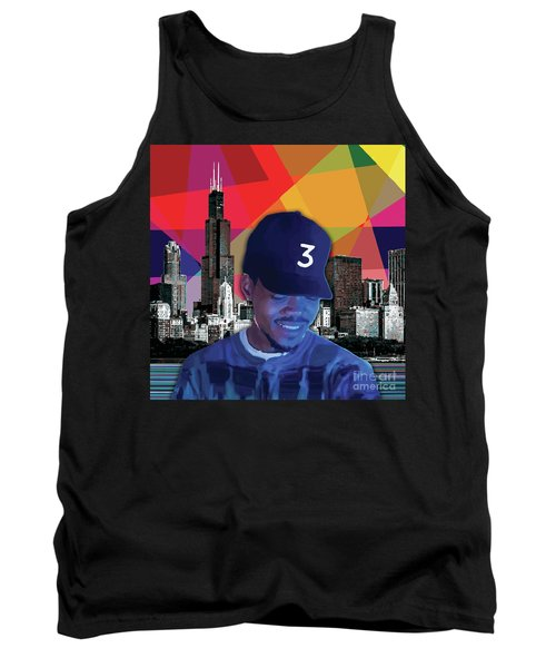 Tank Top featuring the painting Chance Chicago by Carla B